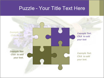 Lavender and sage PowerPoint Template - Slide 43