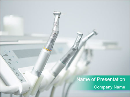 Different dental instruments PowerPoint Templates