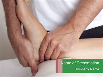 Foot massage PowerPoint Template