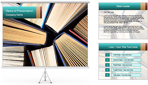 Thick Books PowerPoint Template