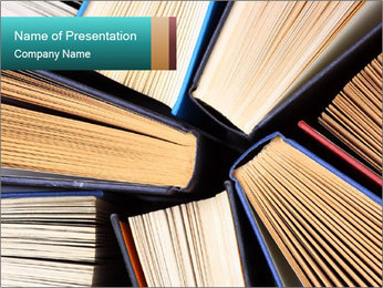Thick Books PowerPoint Templates - Slide 1