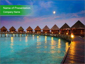 Bungalow In Maldives PowerPoint Template