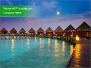 Bungalow In Maldives PowerPoint Templates