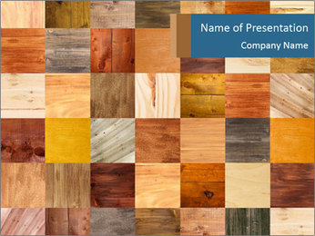 Wooden Mosaic PowerPoint Template - Slide 1