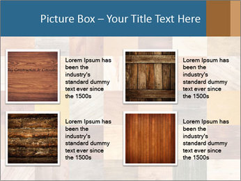 Wooden Mosaic PowerPoint Template - Slide 14