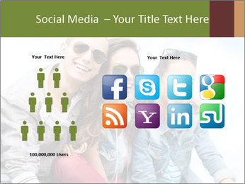 Friends Hanging Together PowerPoint Template - Slide 5