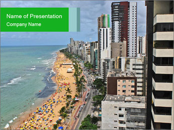 Brazilian Beach Panorama PowerPoint Template