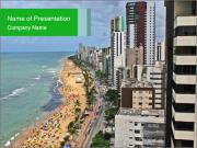 Brazilian Beach Panorama PowerPoint Templates