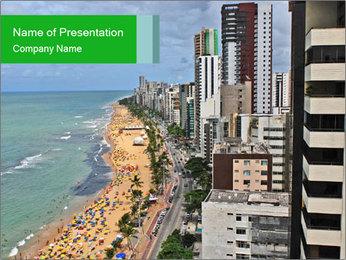 Brazilian Beach Panorama PowerPoint Templates - Slide 1