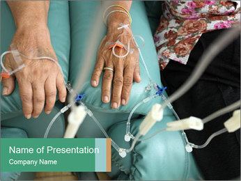 Oncology Treatment PowerPoint Template - Slide 1