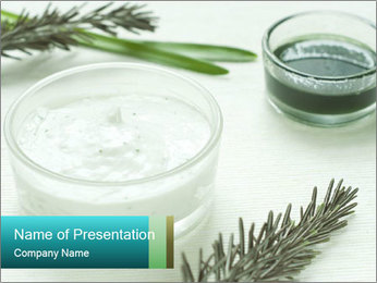 Herbal Cosmetics PowerPoint Templates - Slide 1