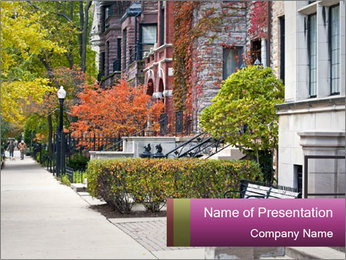 Urban Neighborhood PowerPoint Template - Slide 1