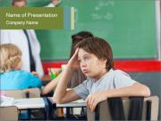 Boy Bored At School PowerPoint Templates