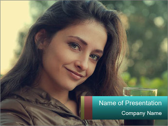 Woman With Perfect Face PowerPoint Template - Slide 1