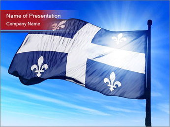 French Province Flag PowerPoint Templates - Slide 1