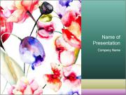 Water Color Flowers PowerPoint Template