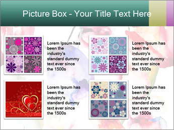 Water Color Flowers PowerPoint Template - Slide 14
