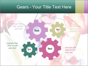 Water Color Flowers PowerPoint Template - Slide 47