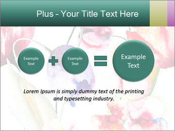 Water Color Flowers PowerPoint Template - Slide 75