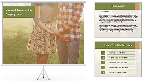 Countryside Love Couple PowerPoint Template