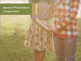 Countryside Love Couple PowerPoint Templates - Slide 1