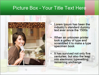 Woman In Boutique PowerPoint Templates - Slide 13