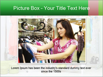Woman In Boutique PowerPoint Templates - Slide 15