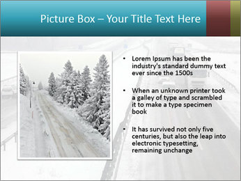 Snowy Highway PowerPoint Templates - Slide 13