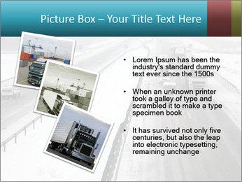 Snowy Highway PowerPoint Template - Slide 17