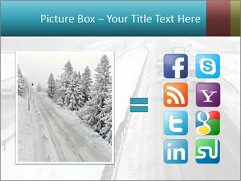 Snowy Highway PowerPoint Templates - Slide 21