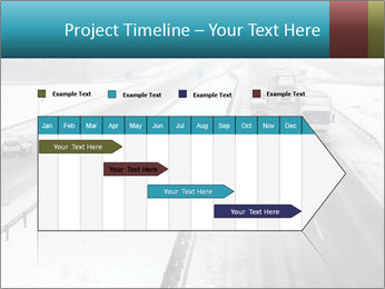 Snowy Highway PowerPoint Template - Slide 25