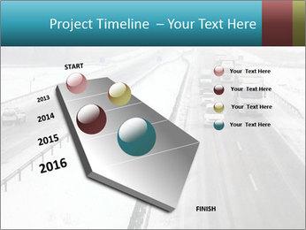 Snowy Highway PowerPoint Template - Slide 26