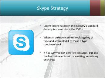 Snowy Highway PowerPoint Template - Slide 8