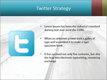 Snowy Highway PowerPoint Template - Slide 9