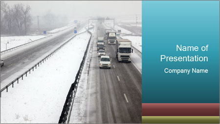 Snowy Highway PowerPoint Template