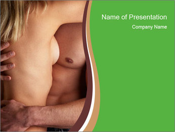 Undressed Couple PowerPoint Template - Slide 1