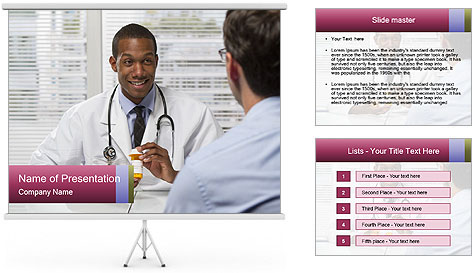 American Doctor PowerPoint Template