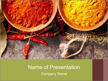 Aroma Spices PowerPoint Template - Slide 1