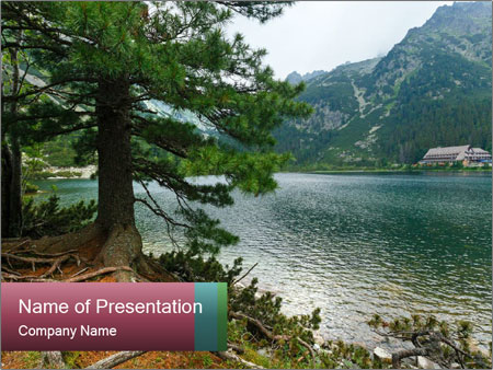 Lake In Slovakia PowerPoint Templates