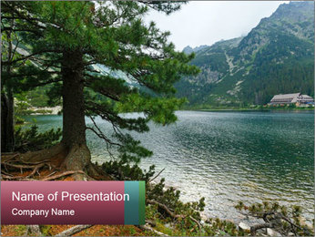 Lake In Slovakia PowerPoint Template - Slide 1