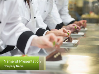 Art Of Cooking PowerPoint Template - Slide 1