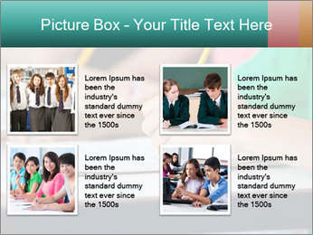 Schoolchildren Making Notes PowerPoint Template - Slide 14