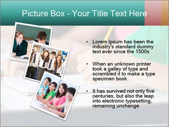 Schoolchildren Making Notes PowerPoint Template - Slide 17