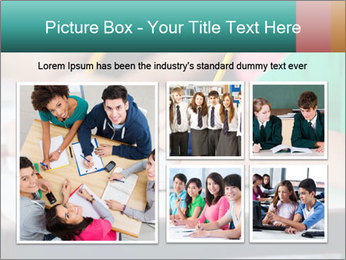 Schoolchildren Making Notes PowerPoint Template - Slide 19