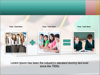 Schoolchildren Making Notes PowerPoint Template - Slide 22