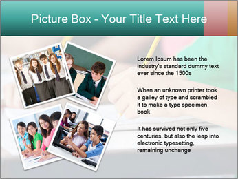 Schoolchildren Making Notes PowerPoint Template - Slide 23