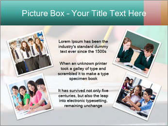 Schoolchildren Making Notes PowerPoint Template - Slide 24