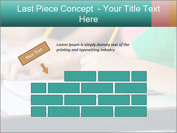 Schoolchildren Making Notes PowerPoint Template - Slide 46