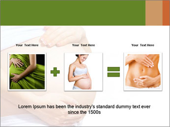 Woman With Big Pregnant Belly PowerPoint Templates - Slide 22