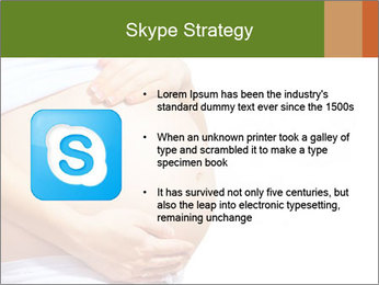 Woman With Big Pregnant Belly PowerPoint Template - Slide 8